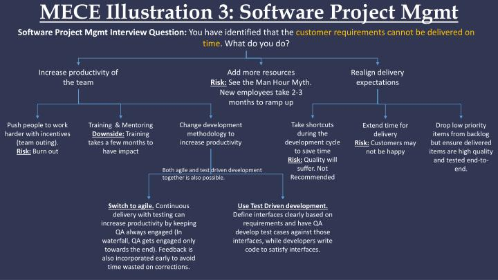 MECE Illustration 3: Software Project
