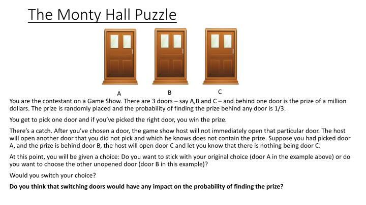 The Monty Hall Puzzle