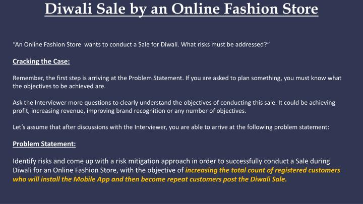 Diwali sale by an online fashion store