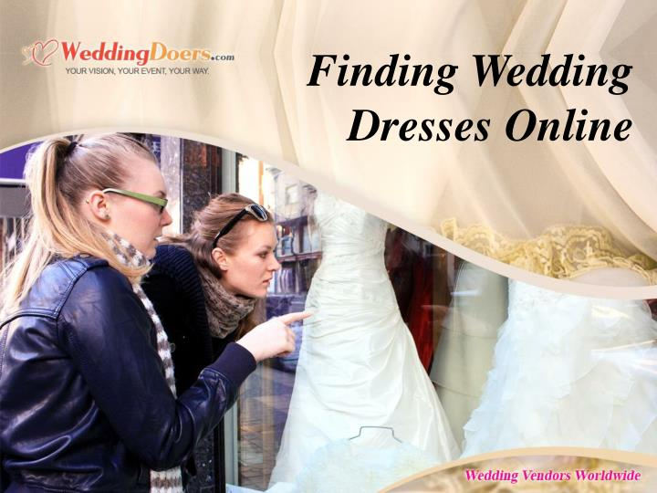 Finding Wedding Dresses Online