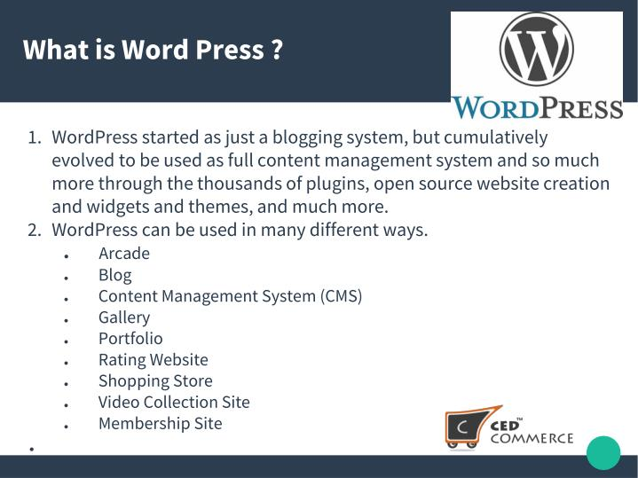 What is Word Press ?