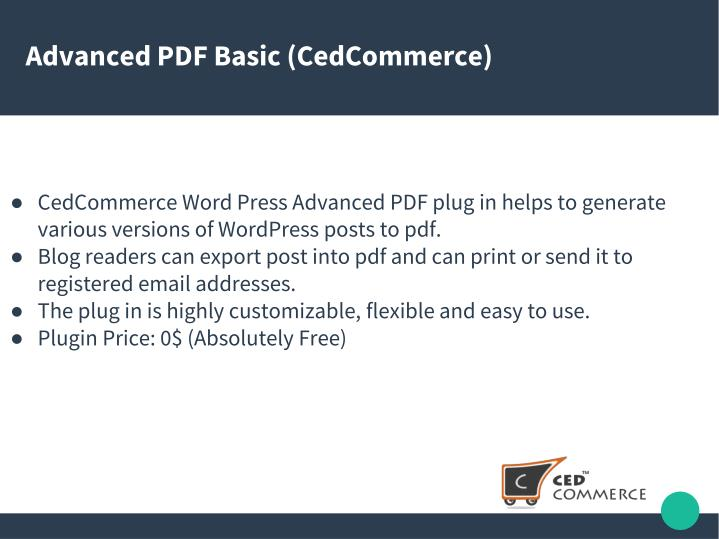Advanced PDF Basic (CedCommerce)
