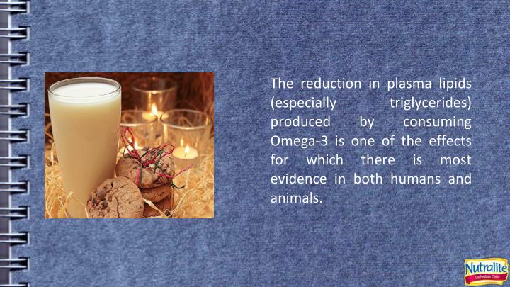 The reduction in plasma lipids