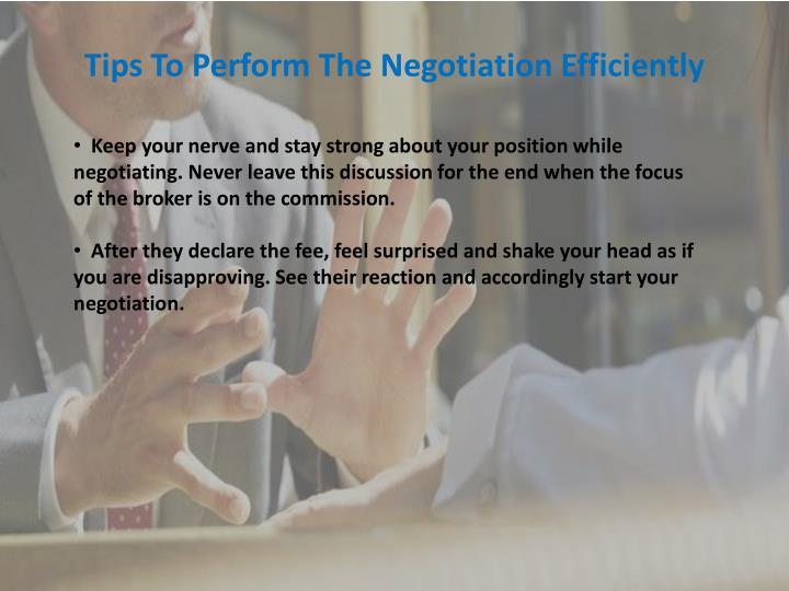Tips To Perform The Negotiation Efficiently