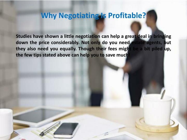 Why Negotiating Is Profitable?