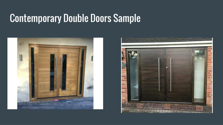 Contemporary Double Doors Sample