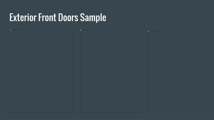 Exterior Front Doors Sample