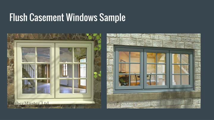 Flush Casement Windows Sample