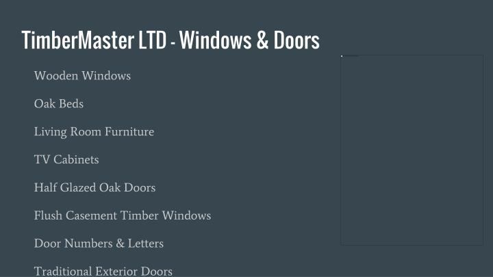 TimberMaster LTD - Windows & Doors