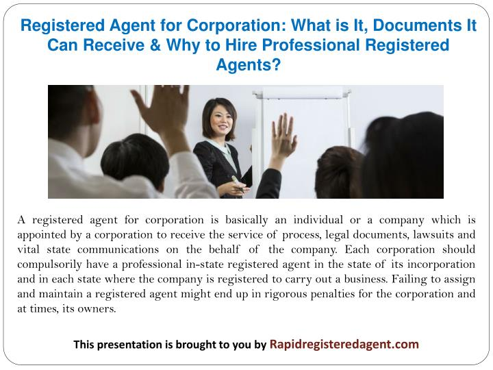 Registered Agent for Corporation: What is It, Documents It Can Receive & Why to Hire Professional Re...