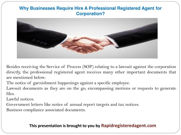 Why Businesses Require Hire A Professional Registered Agent for Corporation