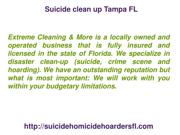 Suicide clean up Tampa FL