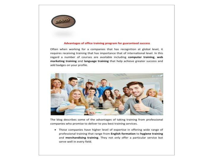 Training program for great achievement in formation langues webmarketing