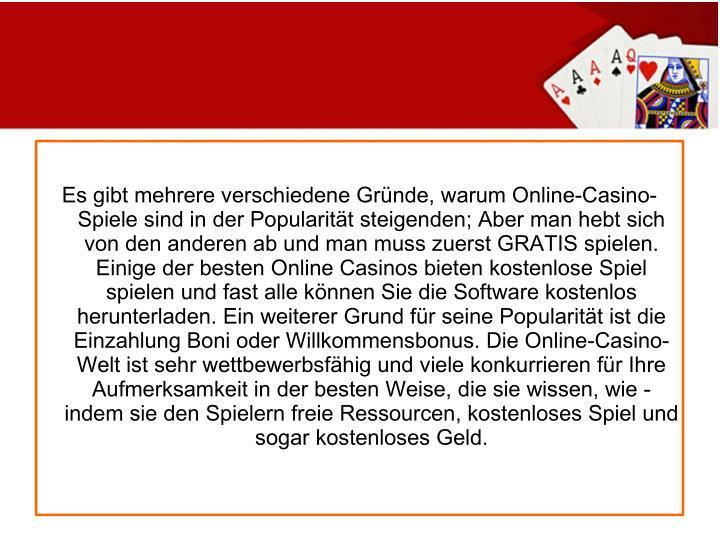 Es gibt mehrere verschiedene Gründe, warum Online-Casino-