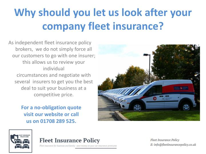 Why should you let us look after your company fleet insurance