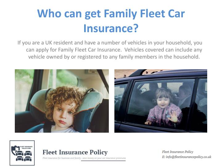 Who can get family fleet car insurance