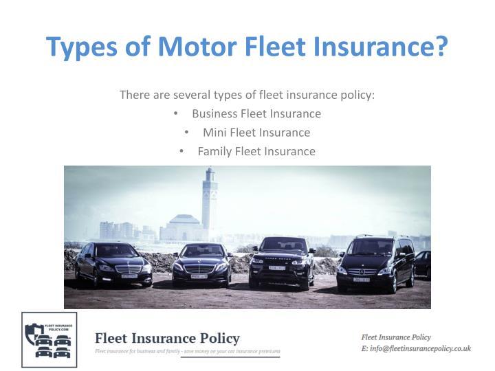 Types of Motor Fleet Insurance?