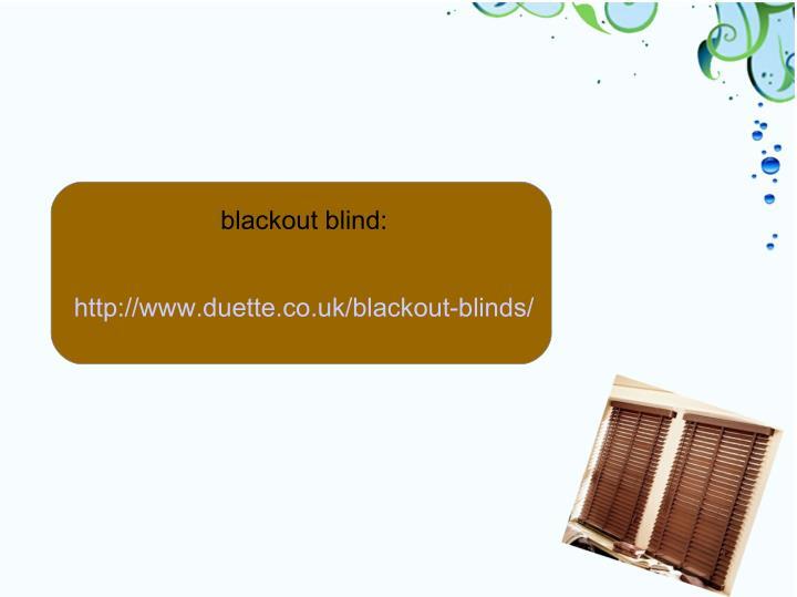 blackout blind: