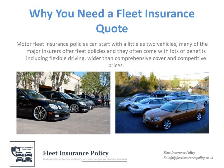 Why you need a fleet insurance quote