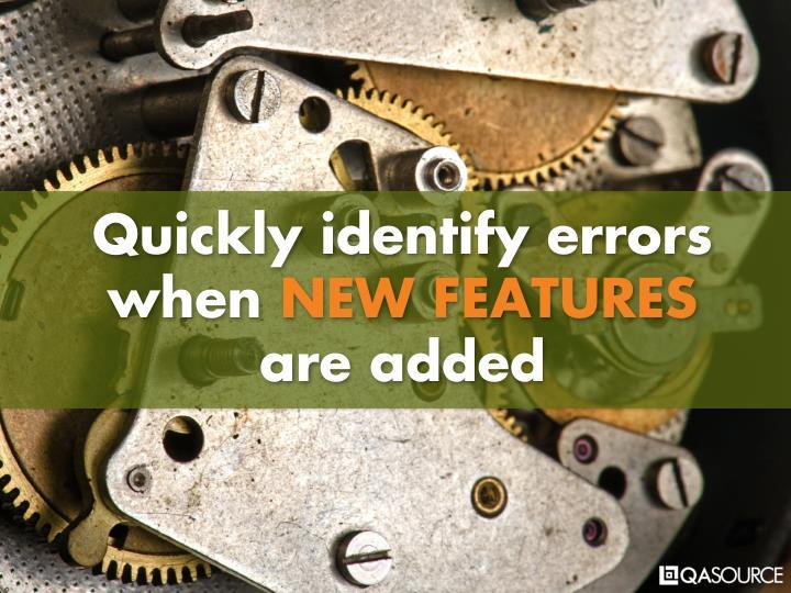 Quickly identify errors