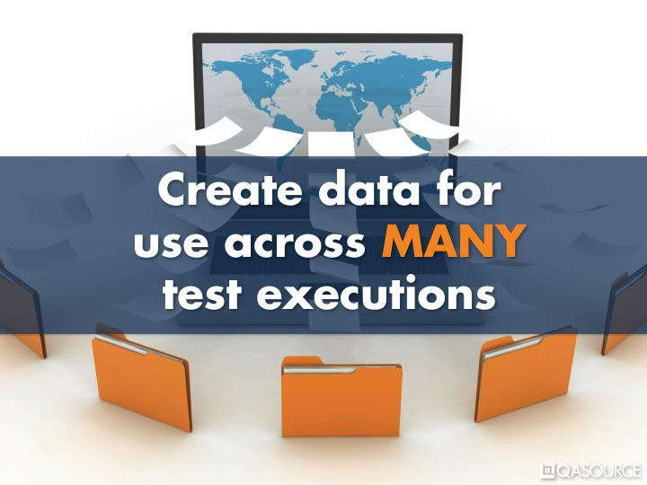 Create data for