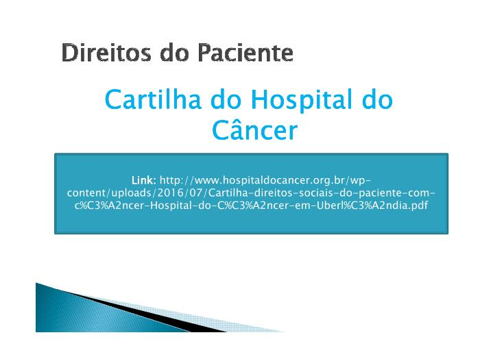 Cartilha do Hospital do