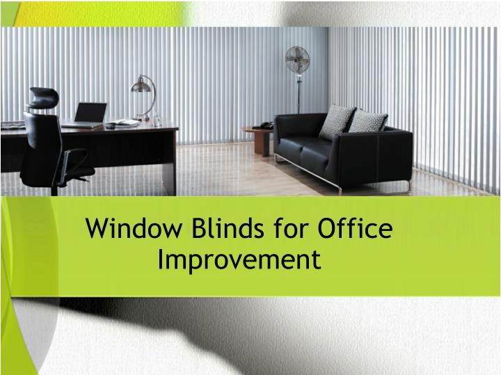 Window Blinds for Office