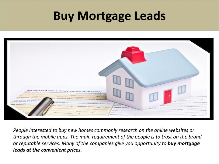 buy mortgage leads