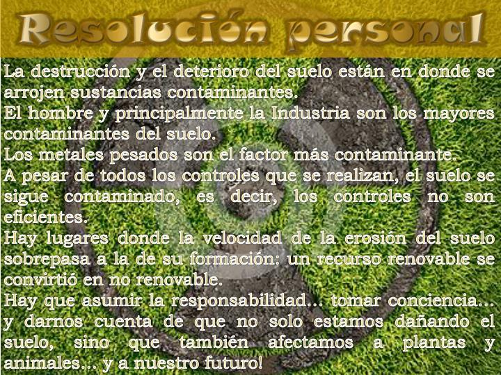 Resolución personal