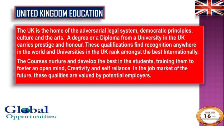 United Kingdom Education