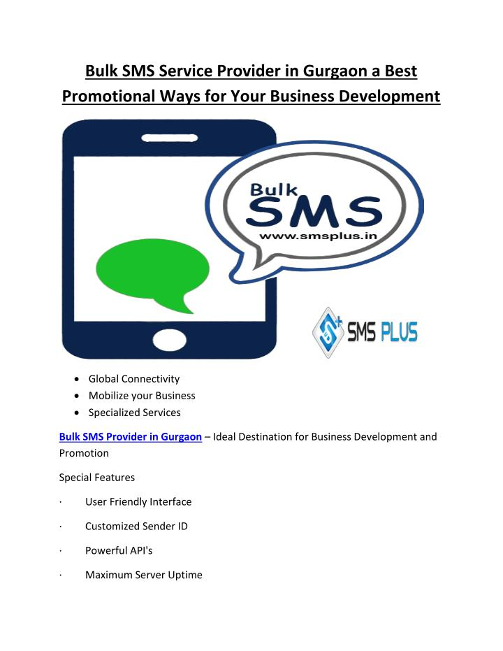 Bulk SMS Service Provider in Gurgaon a Best