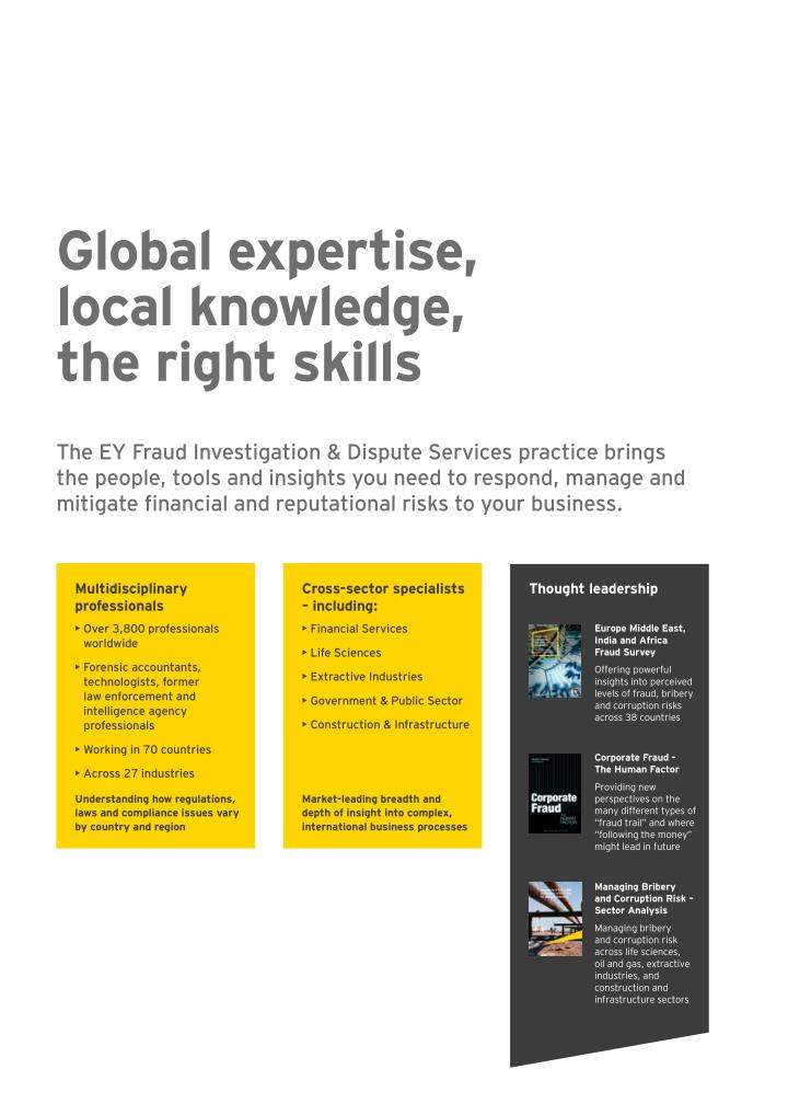 Global expertise,