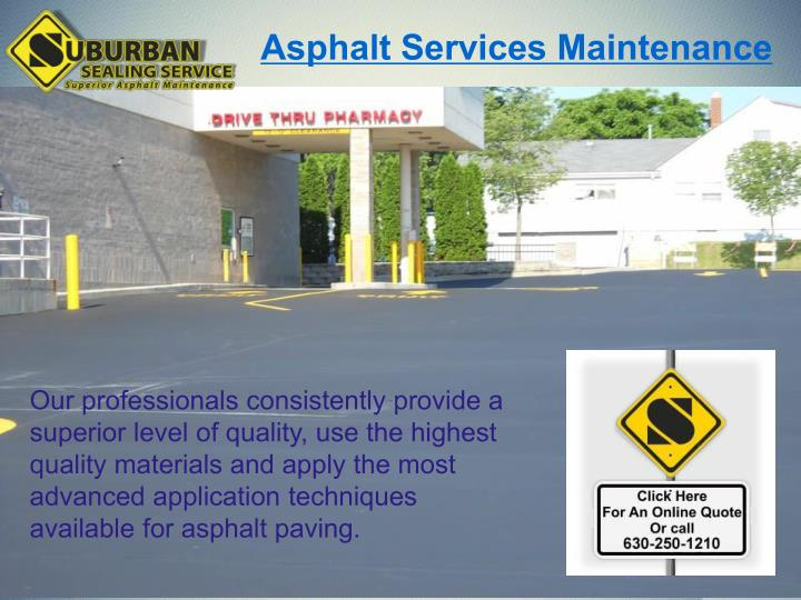 Asphalt Services Maintenance