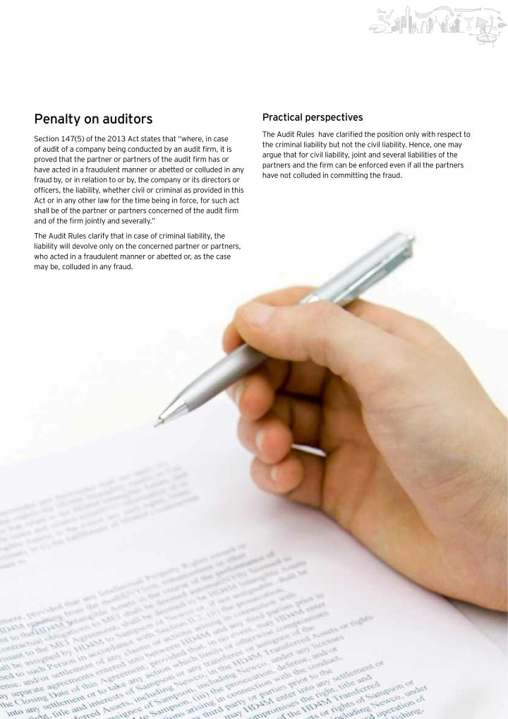 Penalty on auditors