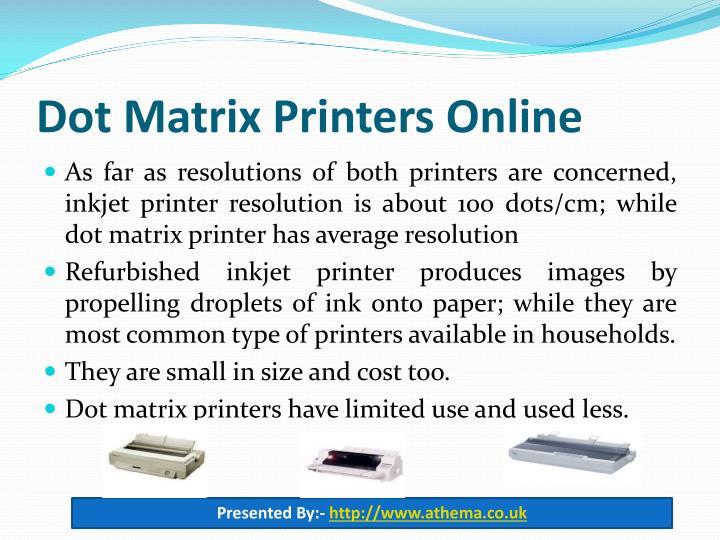 Dot Matrix Printers Online