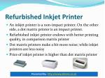 refurbished inkjet printer