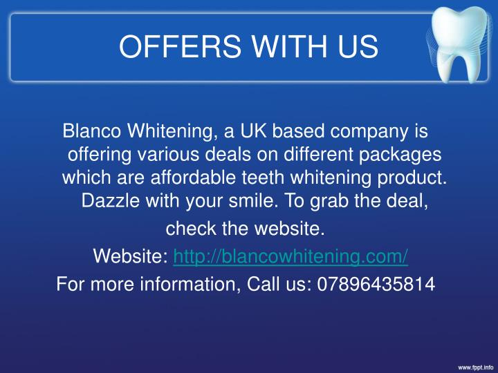 OFFERS WITH US