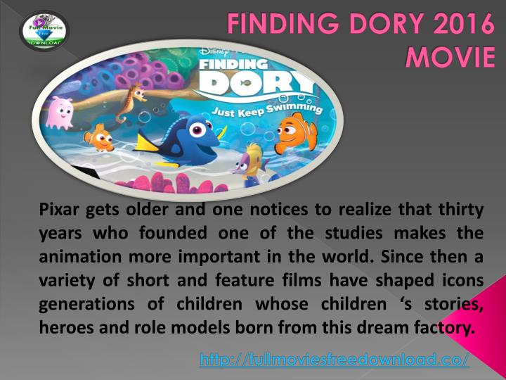 FINDING DORY 2016 MOVIE