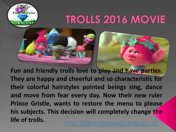 TROLLS 2016 MOVIE