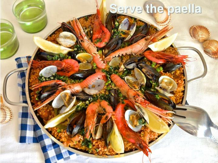 Serve the paella