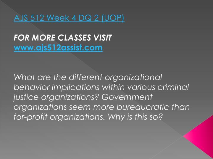 AJS 512 Week 4 DQ 2 (UOP)