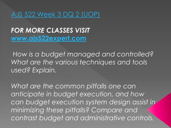 AJS 522 Week 3 DQ 2 (UOP)