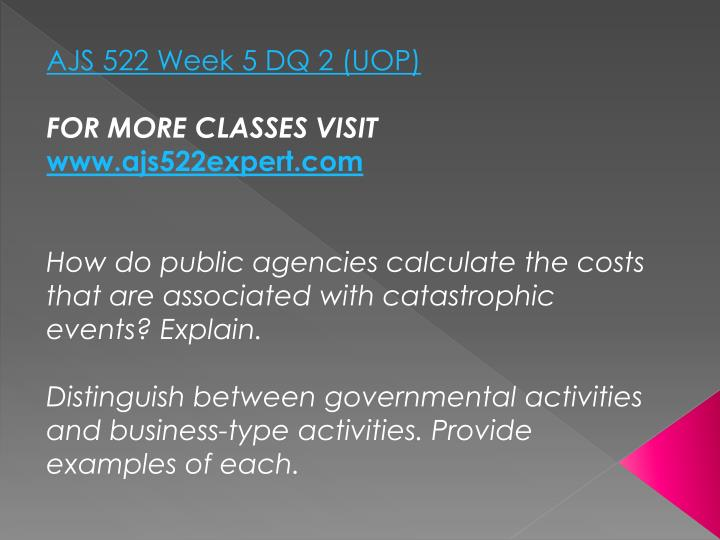 AJS 522 Week 5 DQ 2 (UOP)