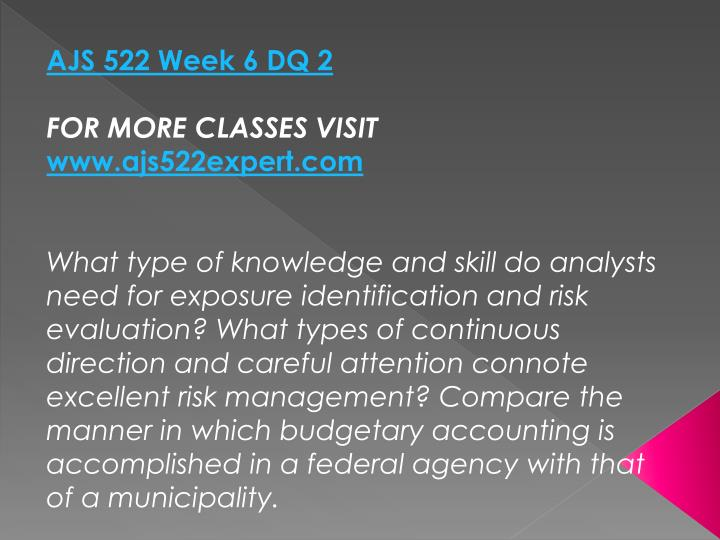AJS 522 Week 6 DQ 2