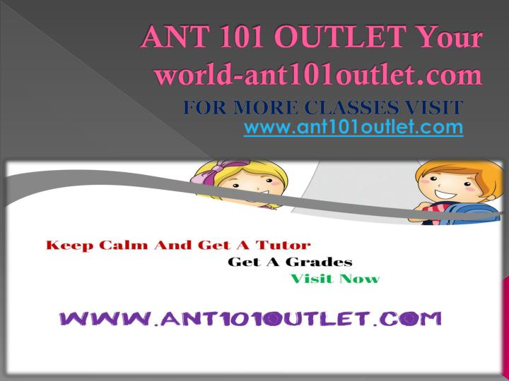 Ant 101 outlet your world ant101outlet com