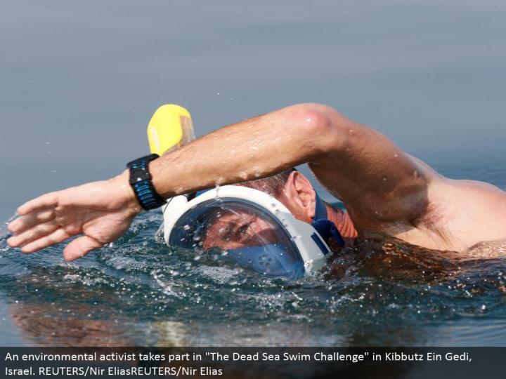 "An natural extremist partakes in ""The Dead Sea Swim Challenge"" in Kibbutz Ein Gedi, Israel. REUTERS/Nir EliasREUTERS/Nir Elias"