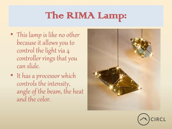 The RIMA Lamp:
