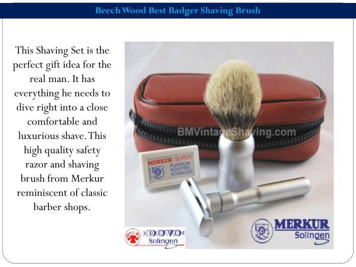 Beech Wood Best Badger Shaving Brush