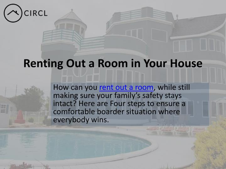 Renting Out a Room in Your House