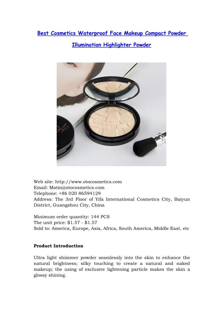 Best Cosmetics Waterproof Face Makeup Compact Powder